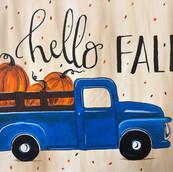 Hello Fall, Pumpkin Truck