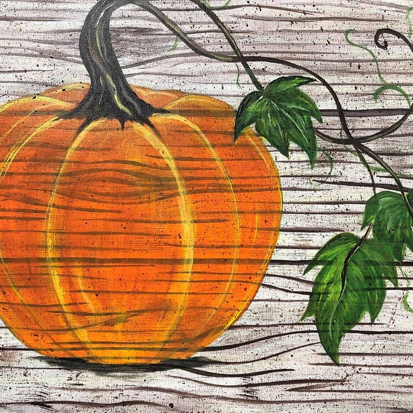Canvas Paint: Rustic Pumpkin