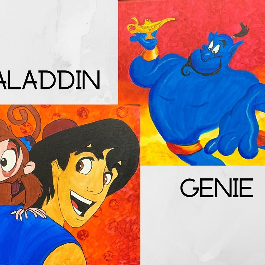 Aladdin Paint Party