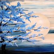 Blue flower tree