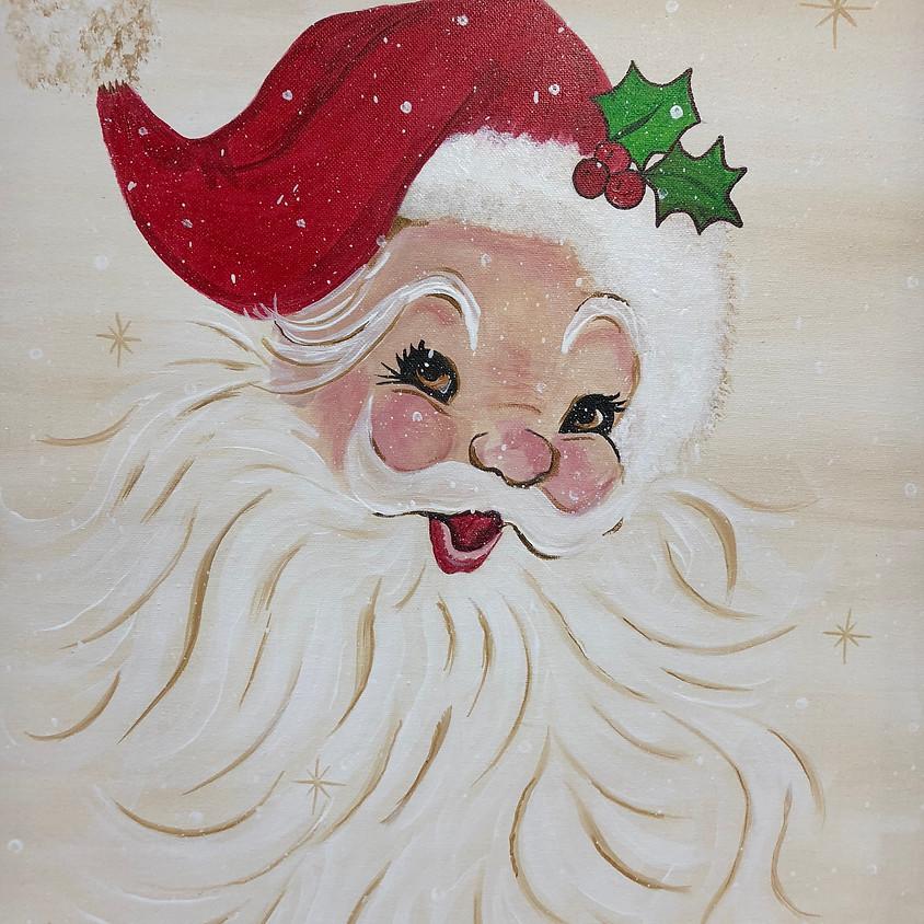 Canvas Paint: Santa