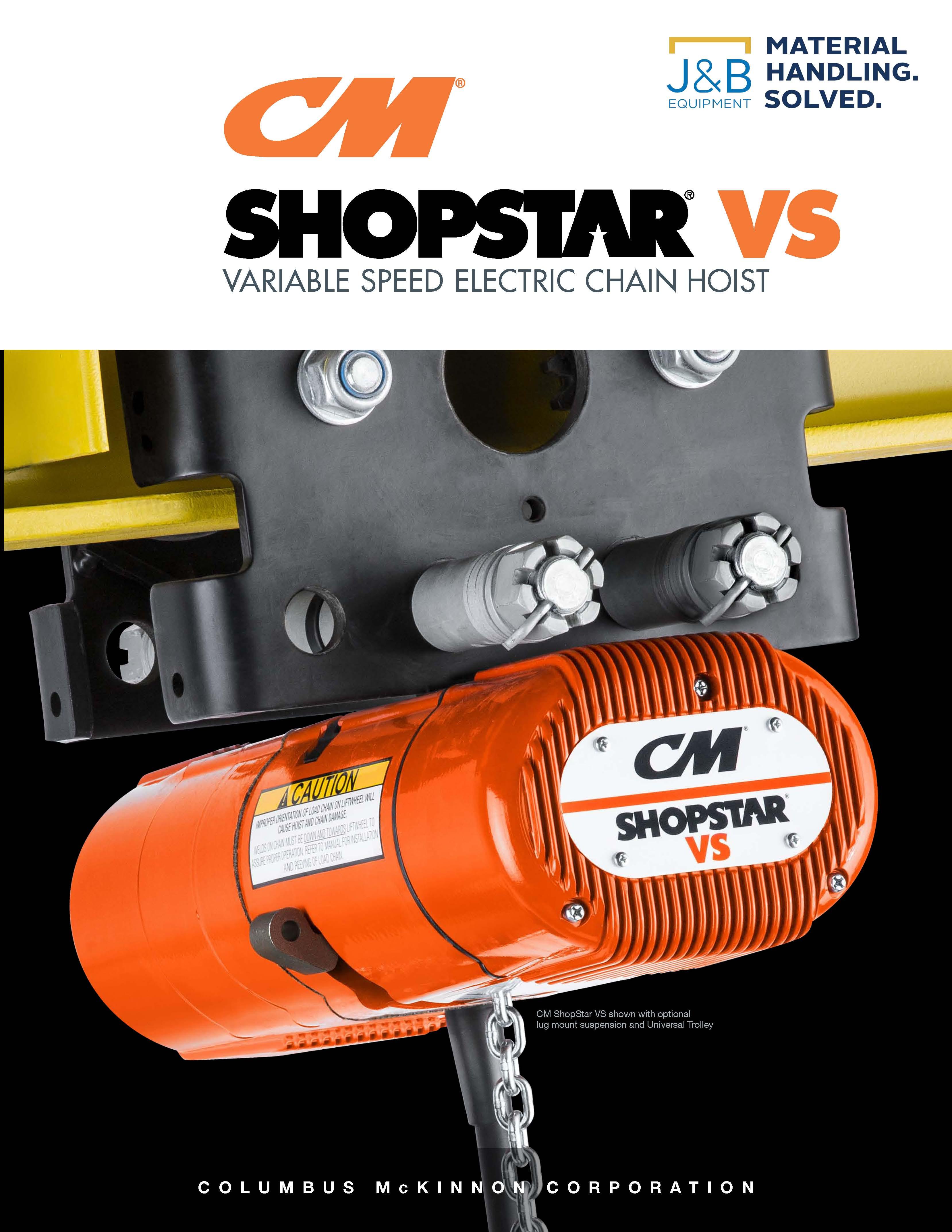 The CM ShopStar VS - A Superior Alternative to Air Hoists   Material  Handling Solutions   Minnesota   J & B Equipment Company