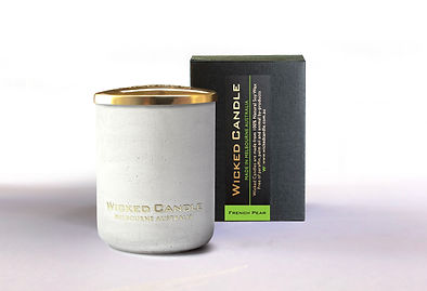 Wicked Candle_Small Concrete White Jar_F