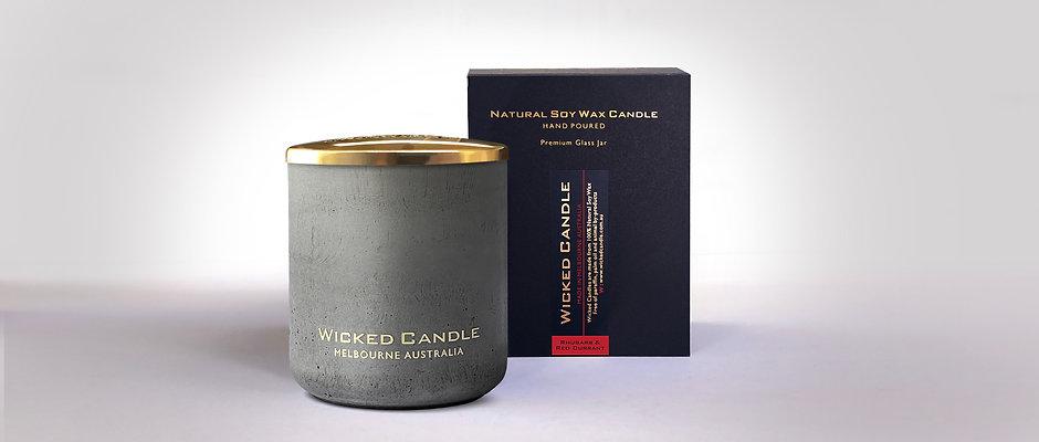 Large Concrete Jar (Grey) - Rhubarb