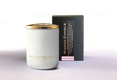 Wicked Candle_Small Concrete White Jar_L