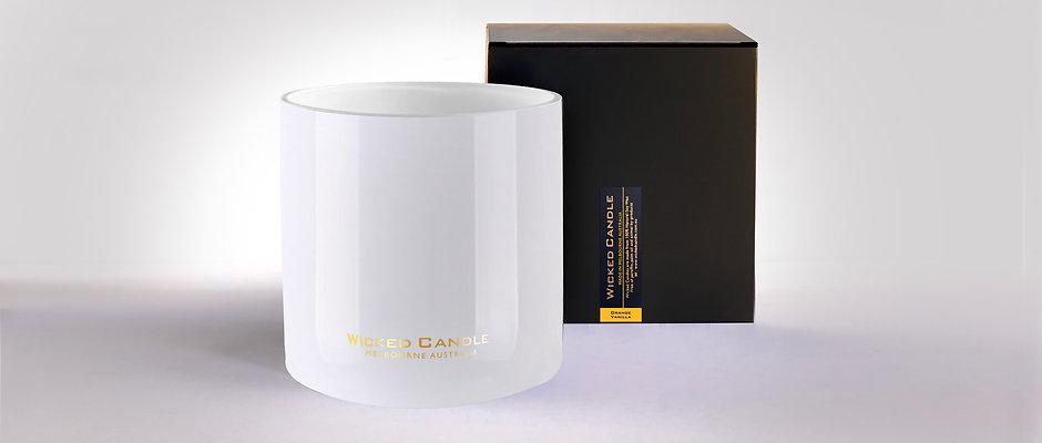 4 Wick Jumbo Jar (White) - Orange Vanilla