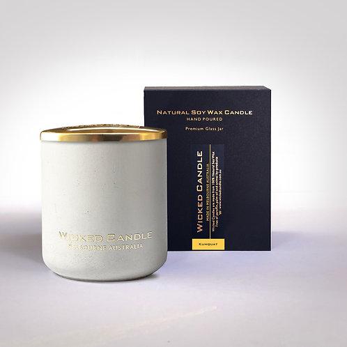 Large Concrete Jar (White) - Kumquat