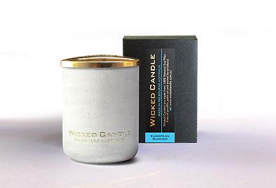 Wicked Candle_Small Concrete White Jar_E