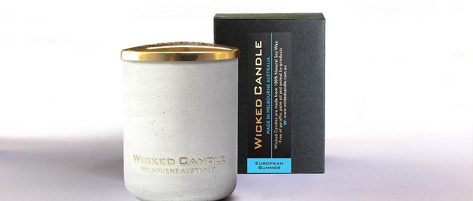Small Concrete Jar (White) - European Summer