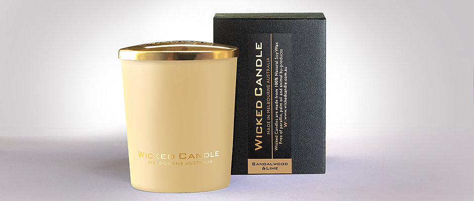 Small Glass Jar (Cream) - Sandalwood & Lime