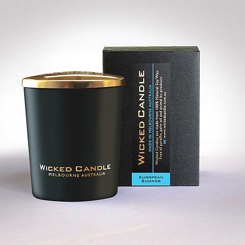 Small Glass Jar (Black) - European Summer