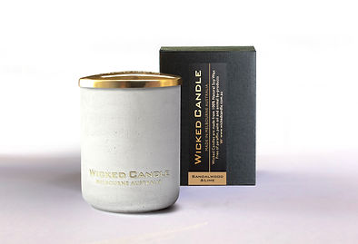 Wicked Candle_Small Concrete White Jar_S