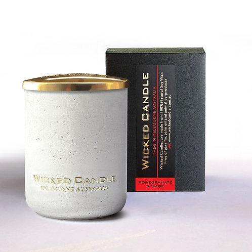 Small Concrete Jar (White) - Pomegranate & Sage