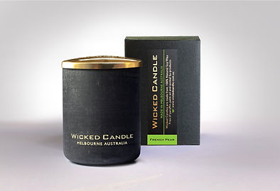 Wicked Candle_Small Concrete Black Jar_F