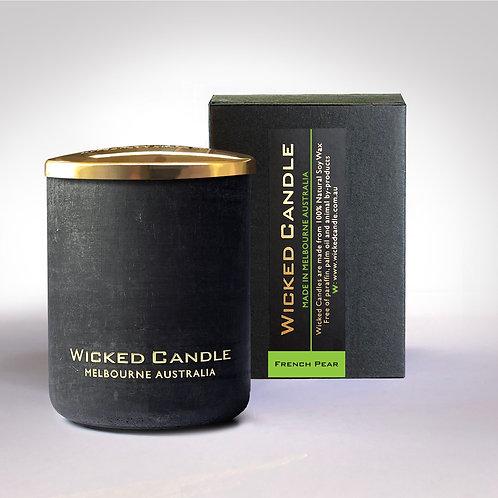 Small Concrete Jar (Black) - French Pear