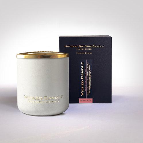 Large Concrete Jar (White) - Cassis & Fig