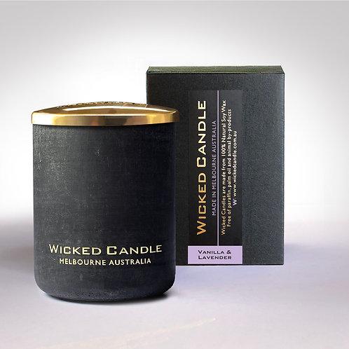 Small Concrete Jar (Black) - Vanilla Lavender