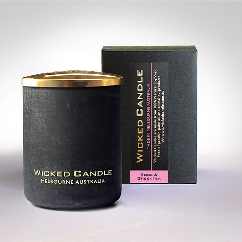 Small Concrete Jar (Black) - Rose & Greentea