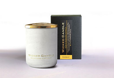 Wicked Candle_Small Concrete White Jar_K