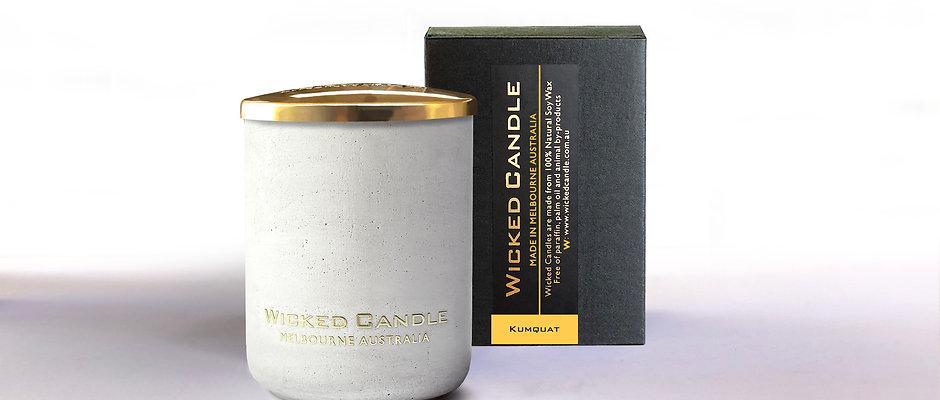 Small Concrete Jar (White) - Kumquat