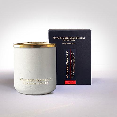 Large Concrete Jar (White) - Pommegranite