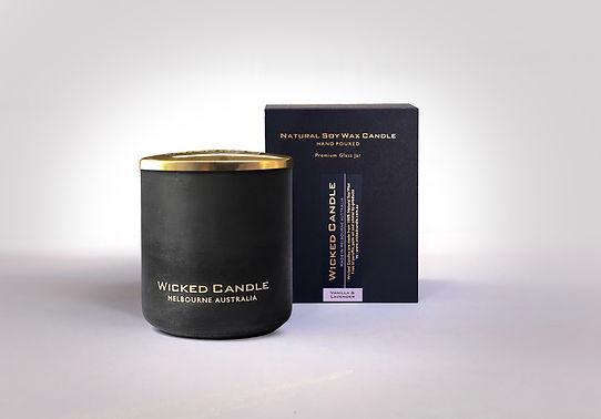 Wicked Candle_Large Black Jar_Concrete_V
