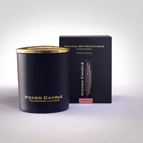 Large Glass Jar (Black) - Cassis & Fig