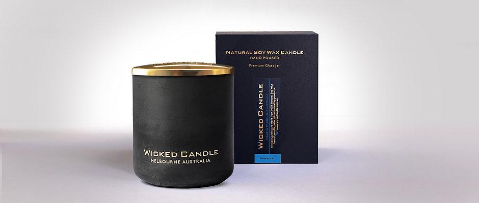 Large Concrete Jar (Black) -Paradise