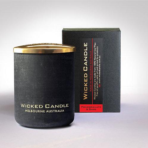 Small Concrete Jar (Black) - Pomegranate & Sage