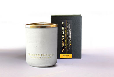 Wicked Candle_Small Concrete White Jar_O