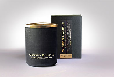 Wicked Candle_Small Concrete Black Jar_S