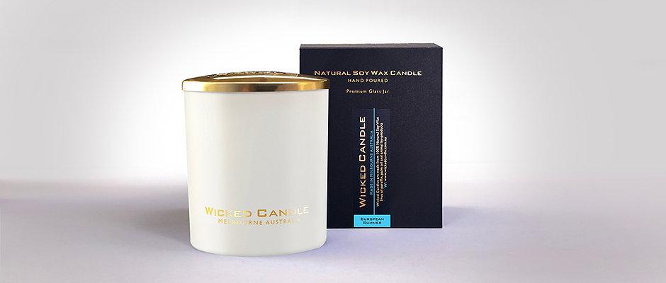 Large Glass Jar (White) - European Summer