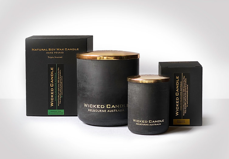 Wicked Candle Black Small and large Jars
