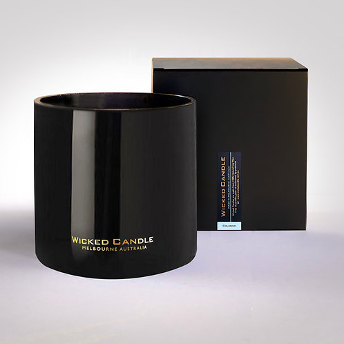 4 Wick Jumbo Jar (Black) - Cologne