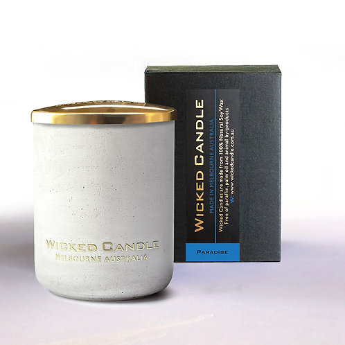 Small Concrete Jar (White) - Paradise