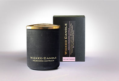 Wicked Candle_Small Concrete Black Jar_L