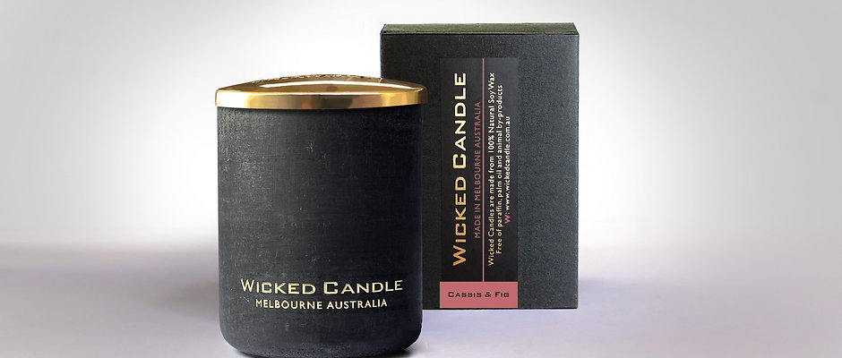 Small Concrete Jar (Black) - Cassis & Fig