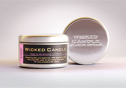 Wicked Candle_Large Tin_Rose & Greentea.