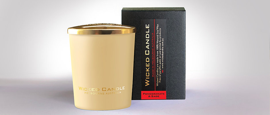 Small Glass Jar (Cream) - Pomegranate & Sage