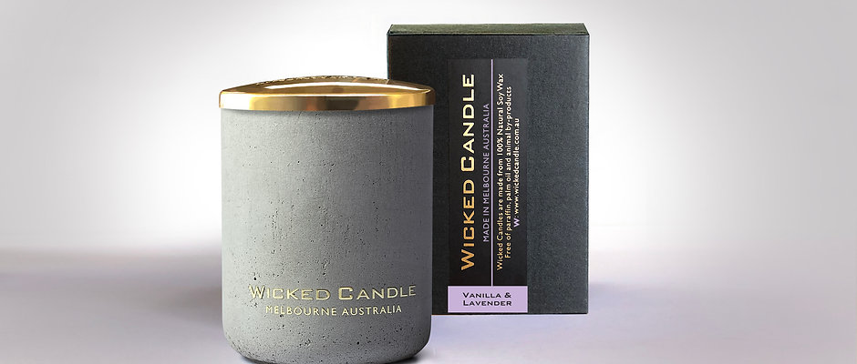Small Concrete Jar (Grey) - Vanilla Lavender
