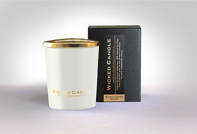 Wicked Candle_Small White Jar_Sandalwood
