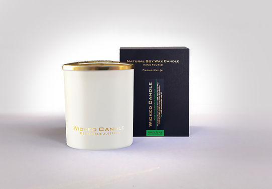 Wicked Candle_Large White Jar_Greentea &