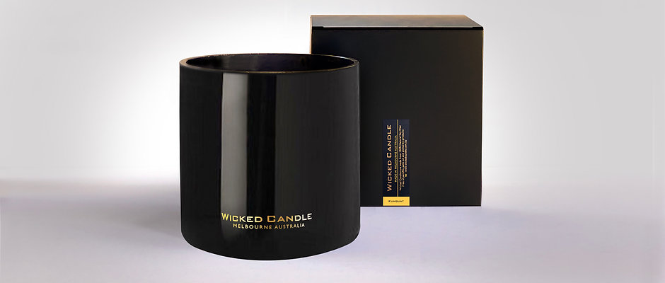 4 Wick Jumbo Jar (Black) - Kumquat