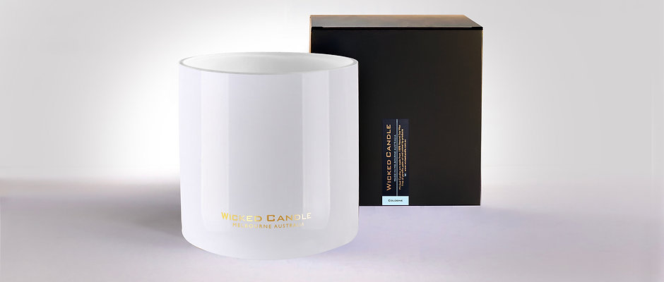 4 Wick Jumbo Jar (White) - Cologne