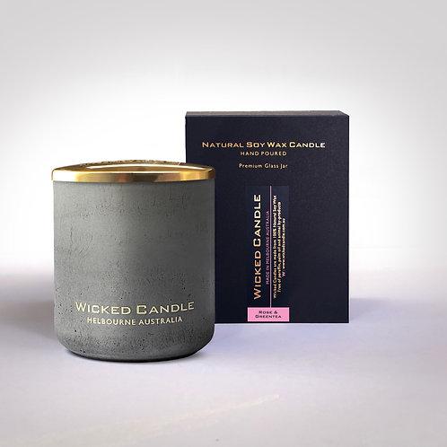 Large Concrete Jar (Grey) - Rose & Greentea