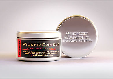 Wicked Candle_Large Tin_Pommegranate & S