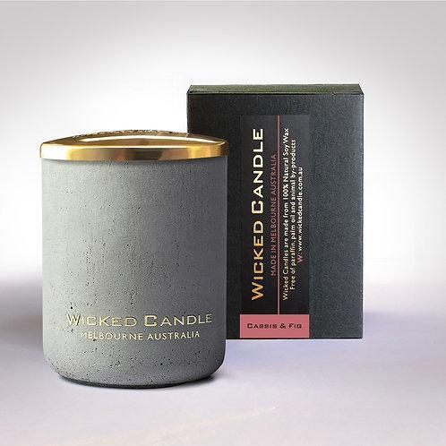 Small Concrete Jar (Grey) - Cassis & Fig