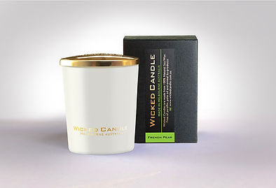 Wicked Candle_Small White Jar_French Pea