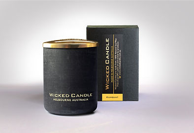 Wicked Candle_Small Concrete Black Jar_K