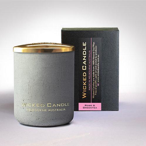 Small Concrete Jar (Grey) - Rose & Greentea